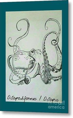 Octopodiformes Octopus Metal Print by Scott D Van Osdol