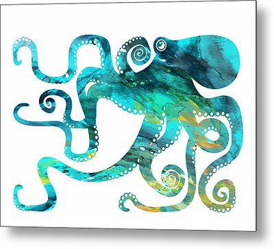 Octopus 2 Metal Print by Donny Art