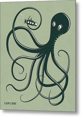 Octopus Metal Print by Jazzberry Blue