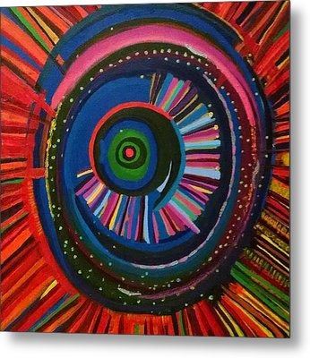 Ocular Energy Path Metal Print by Daina White