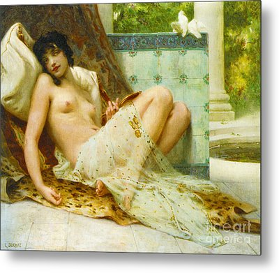 Odalisque Aux Colombes 1900 Metal Print