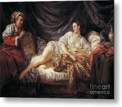 Odalisque  Turkish Slave Metal Print by Jean-Baptiste Le Prince