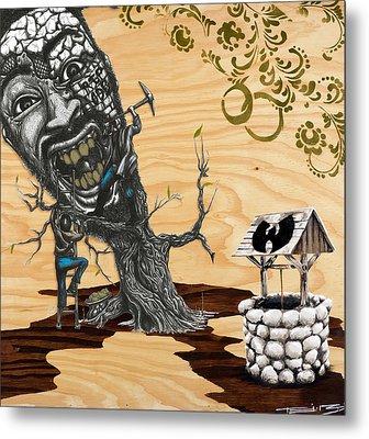Odb Tree Mining Down By The Wu-tang Well Metal Print by Tai Taeoalii
