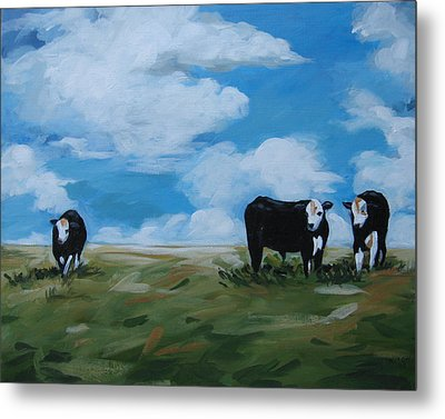Odd Cow Out Metal Print