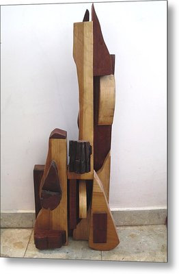 Metal Print featuring the sculpture Ode To A Guitar by Esther Newman-Cohen