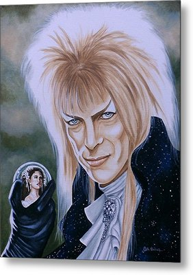 Metal Print featuring the painting Ode To The Goblin King by Al  Molina
