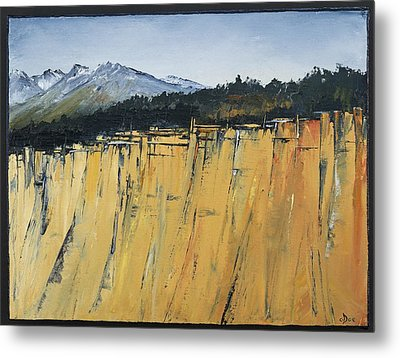 Of Bluff And Mountain Metal Print by Carolyn Doe