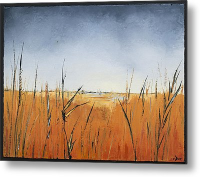 Of Grass And Seed Metal Print by Carolyn Doe