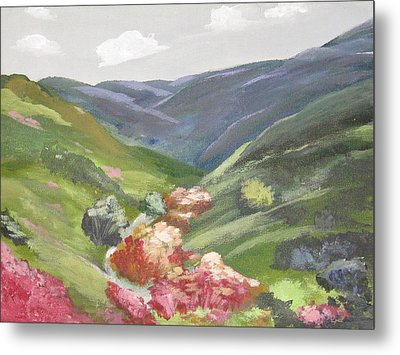 Metal Print featuring the painting Of Mountains And Valleys by Trilby Cole