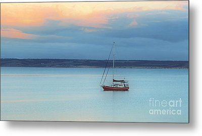 Metal Print featuring the photograph Off Sailing by Stephen Mitchell