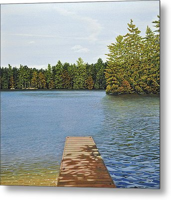 Off The Dock Metal Print by Kenneth M  Kirsch