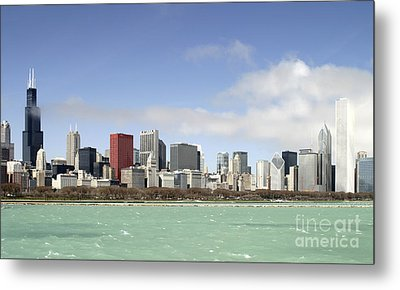 Off The Shore Of Chicago Metal Print by Ricky L Jones