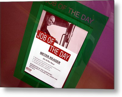 Off To The Job Centre Now Metal Print by Jez C Self