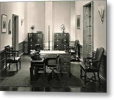 Office Interior Metal Print by Underwood Archives