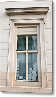 Office Window Metal Print by Tom Gowanlock