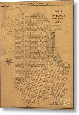 Official Map Of San Francisco 1849 Metal Print