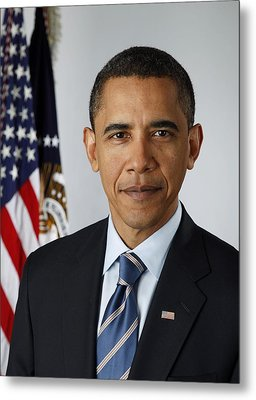 Official Portrait Of President Barack Metal Print by Everett