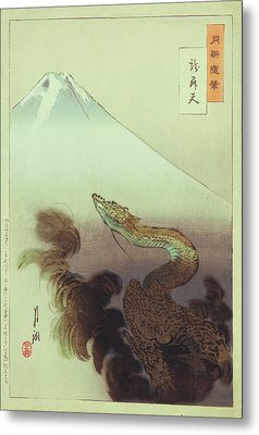 Ogata Gekko Dragon Metal Print