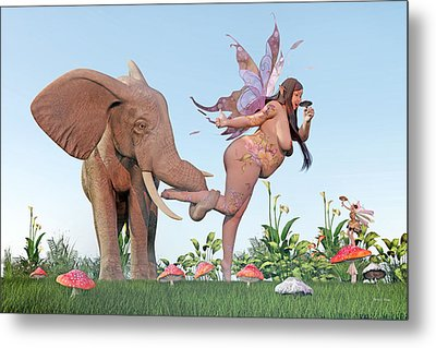 Oh Alice Metal Print by Betsy Knapp