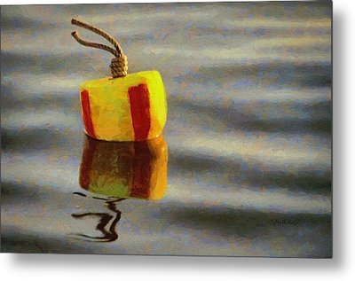 Metal Print featuring the painting Oh Buoy by Jeff Kolker