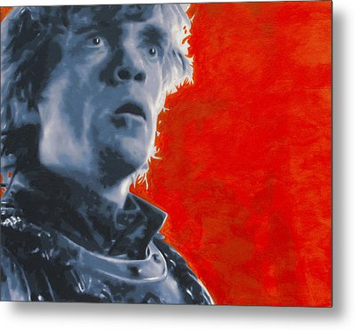 Metal Print featuring the painting Tyrion Lannister by Luis Ludzska