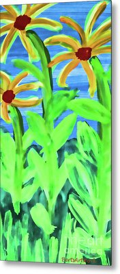 Oh Glorious Day Floral Metal Print