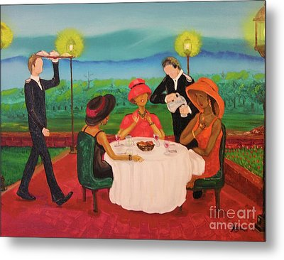 Metal Print featuring the painting Oh My by Barbara Hayes