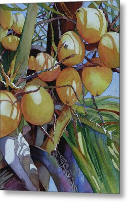 Metal Print featuring the painting Oh Nuts by Judy Mercer