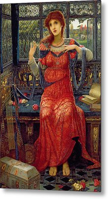 Oh Swallow Swallow Metal Print by John Melhuish Strudwick