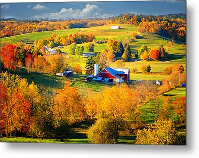 Ohio Amish Country Metal Print by Mary Timman