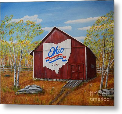 Ohio Bicentennial Barns 22 Metal Print