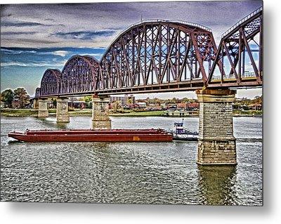 Ohio River Bridge Metal Print by Dennis Cox