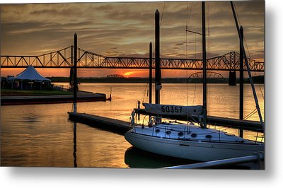 Metal Print featuring the photograph Ohio River Sailing by Deborah Klubertanz