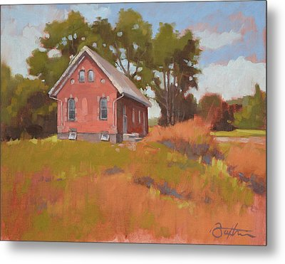 Ohio Schoolhouse Metal Print by Todd Baxter