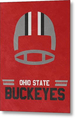Ohio State Buckeyes Vintage Football Art Metal Print