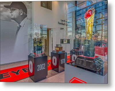 Ohio State Football National Championship Trophy Woody Metal Print by Scott McGuire