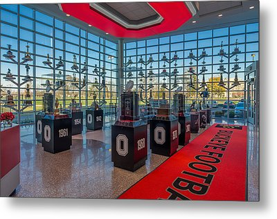 Ohio State Football Trophy Collection Metal Print