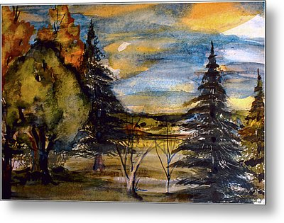 Metal Print featuring the painting Ohio Sunset by Mindy Newman
