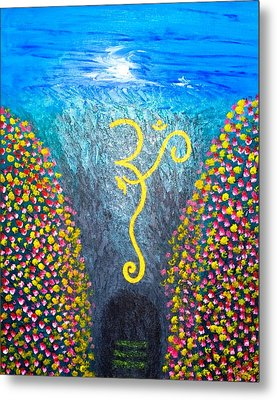 Metal Print featuring the painting OHM by Piety Dsilva