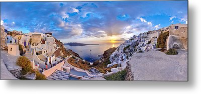 Oia Sunset Metal Print by Milos Novakovic