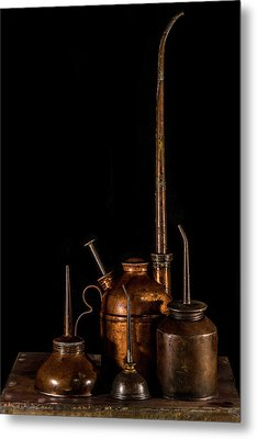 Metal Print featuring the photograph Oil Cans by Paul Freidlund
