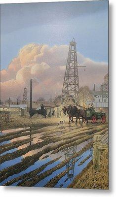 Oil Craze Of 1889 Metal Print