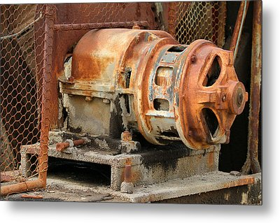 Oil Field Electric Motor Metal Print by Art Block Collections