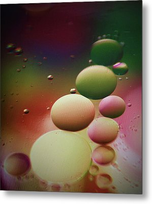 Oil Orbs And Colour Metal Print