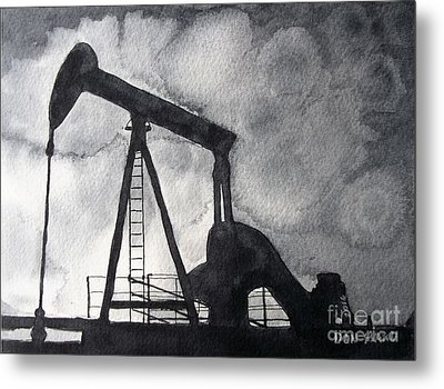 Oil Jack Metal Print by Don Hand
