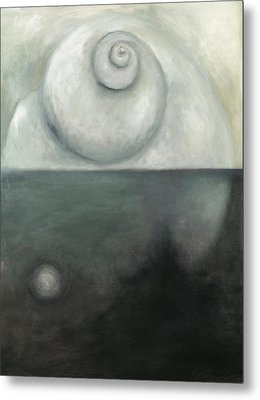 Oil Spill L Metal Print by Katherine DuBose Fuerst
