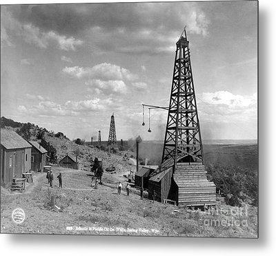 Oil Well, Wyoming, C1910 Metal Print