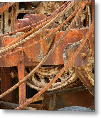 Oil Production Rig Metal Print