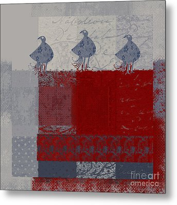 Metal Print featuring the digital art Oiselot - J106161103_02bb by Variance Collections