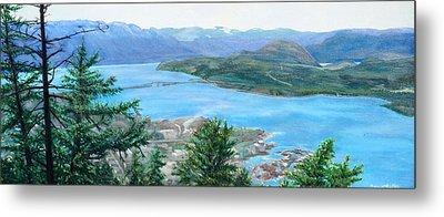 Metal Print featuring the painting Okanagan Blue by Bonnie Heather